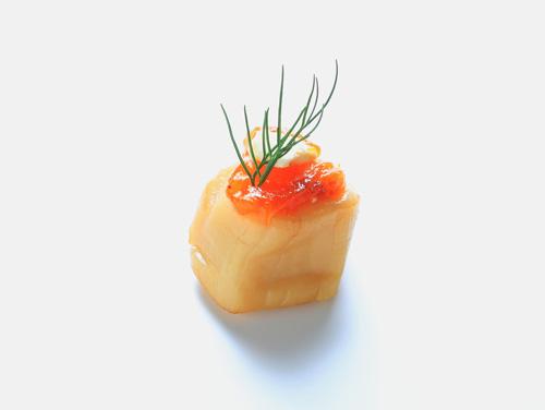 ほたてと柿クリームチーズ