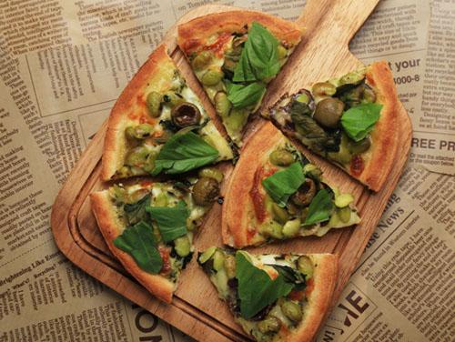 スモークグリーンピザ