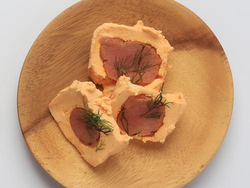 明太子燻製とクリームチーズ
