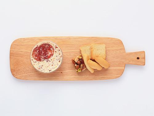 チーズピンチョス(サラミパテ&プラリネナッツ)