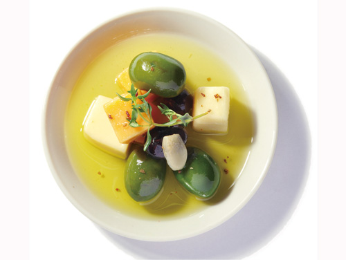 チーズ&オリーブ盛付