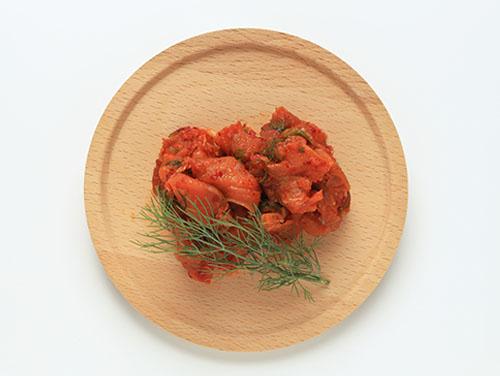 スモークサーモンとシャキシャキ野菜