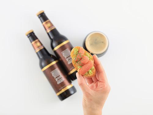 クラフトビールに合うえだまめと明太子