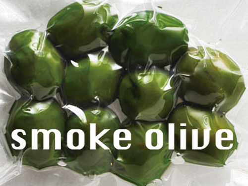 燻製オリーブ